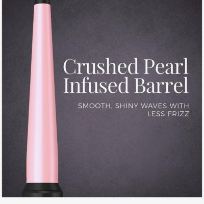"""REMINGTON Pro 1""""-1.5"""" Pearl Ceramic Conical Curling Wand"""