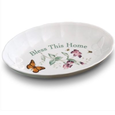 """Lenox Butterfly Meadow® """"Bless This Home"""" 11"""" Serving Platter"""