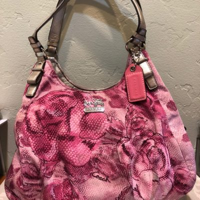 Coach Rose Shoulder Bag with Metallic Features