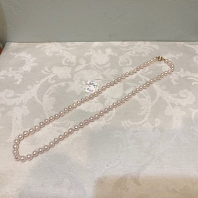Akoya Salt Sea White Baroque Knotted Pearl Necklace