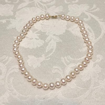 Akoya Salt Sea White Pearl Knotted Necklace